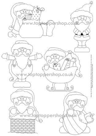 Cyo Santa Claus Digi Stamps Printed Sheet