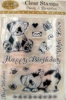 Daisy & Dandelion Clear Stamps