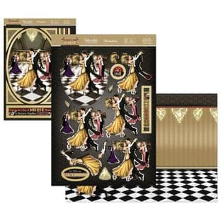 Dance the Night Away - The Golden Age of Glamour Hunkydory Die Cut Decoupage Kit