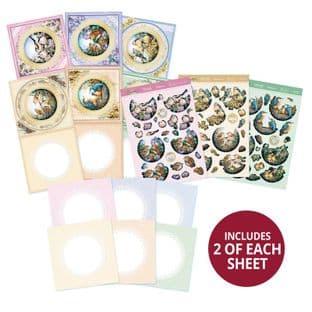 Delightful Birds Decoupage Card Kit Makes 12 Cards Hunkydory