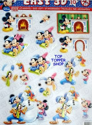 DIE CUT CHRISTMAS DECOUPAGE MICKEY MOUSE STUDIOLIGHT TSTAPEASY10