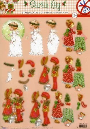 DIE CUT CHRISTMAS DECOUPAGE SARAH KAY STUDIO LIGHT TEASYSK134