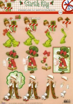 DIE CUT CHRISTMAS DECOUPAGE SARAH KAY STUDIO LIGHT TEASYSK136