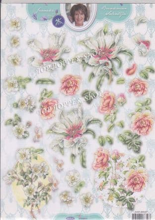 Die Cut Decoupage Janneke Brinkman Flowers Studio Light EASYJBS377