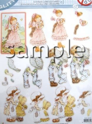 DIE CUT DECOUPAGE SARAH KAY STUDIO LIGHT TEASYSK67
