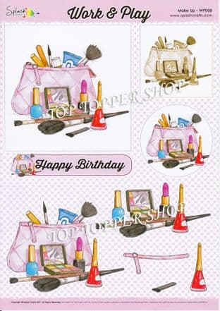 Die Cut Decoupage Sheet Make Up Splash Crafts WP008d