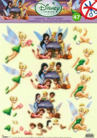 DIE CUT DISNEY FAIRIES DECOUPAGE TINIKERBELL & FRIENDS STUDIO LIGHT EASYDF47