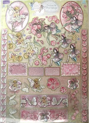 Die Cut Dufex Flower Fairies  Decoupage Kit 72