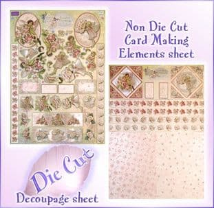 DIE CUT DUFEX FLOWER FAIRIES DECOUPAGE KIT 74