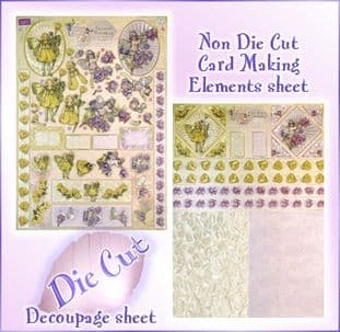 DIE CUT DUFEX FLOWER FAIRIES DECOUPAGE KIT 75