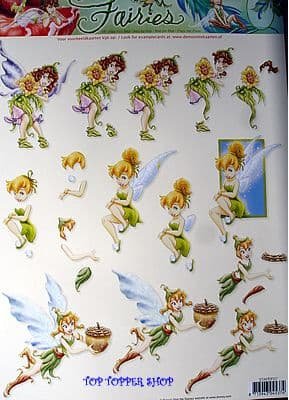 DISNEY FAIRIES TINKERBELL 7 STUDIOLIGHT DECOUPAGE
