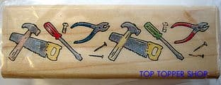 DIY TOOL BORDER HAMPTON ART RUBBER STAMP 1890