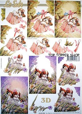 DOG IN BOOT DECOUPAGE SHEET LE SUH 904
