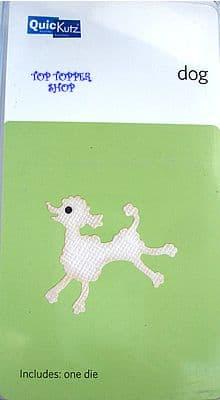 DOG, POODLE, QUICKUTZ SINGLEKUTZ DIE RS-0712