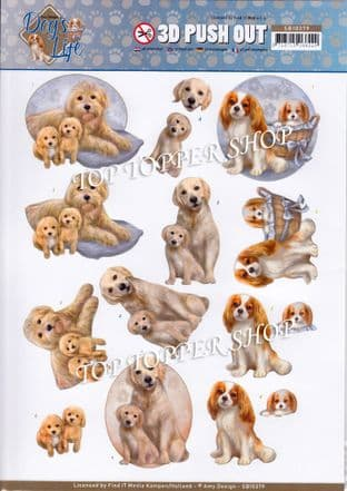 Dog's Life Mommy Die Cut Decoupage Sheet Amy Design Push Out SB10379
