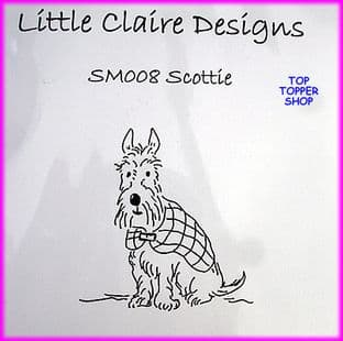 DOG STAMP - SCOTTIE by LITTLE CLAIRE DESIGNS