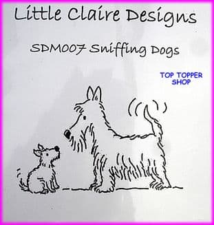 DOG STAMP - SNIFFING DOGS by LITTLE CLAIRE DESIGNS