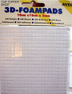 Double Sided Sticky Foam Pads 400 Avec Pads 5mm x 5mm x 3mm deep
