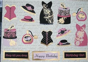 DRESS UP PINK DIE CUT TOPPERS KANBAN 9103