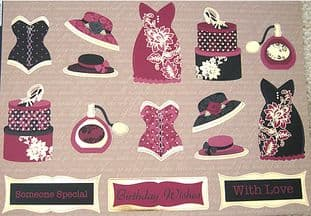 DRESS UP RUBY DIECUT TOPPERS KANBAN 9104