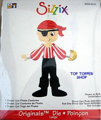 DRESS UPS PIRATE COSTUME LARGE RED DIE