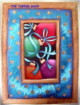 DUFEX CHRISTMAS BAUBLES FOIL PRINT 142494