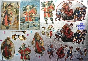 DUFEX CHRISTMAS DECOUPAGE SHEET * NOSTALGIC SANTAS *