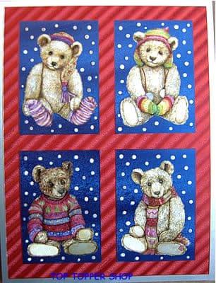 DUFEX CHRISTMAS TEDDIES CHRISTMAS FOIL PRINT 142543