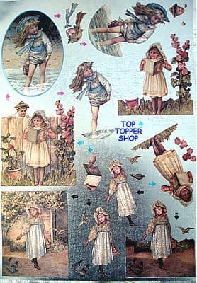 DUFEX DECOUPAGE SHEET * NOSTALGIC CHILDHOOD *