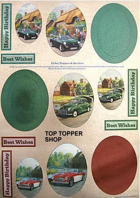 DUFEX DIE CUT TOPPERS & BORDERS - CARS