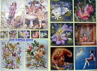 DUFEX FAIRY STICKERS - FLOWER FAIRIES, CAT etc.