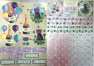 DUFEX GOOD LUCK DIE CUT DECOUPAGE & CARD MAKING SHEETS