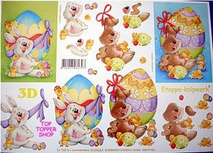 EASTER BUNNY & EGG DECOUPAGE SHEET LE SUH 4169654
