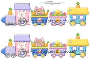 Easter Train Clipart Printed Sheet Kw19
