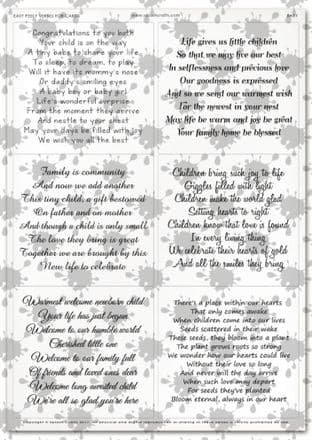 Easy Peely Transparent Verses Baby  Sheet