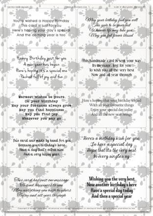 Easy Peely Transparent Verses Birthday Short N Sweet Sheet 2