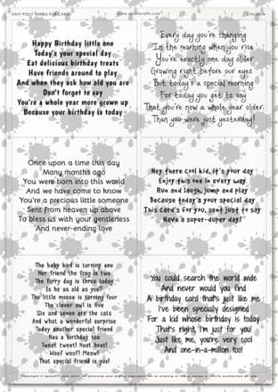 Easy Peely Transparent Verses Children Sheet