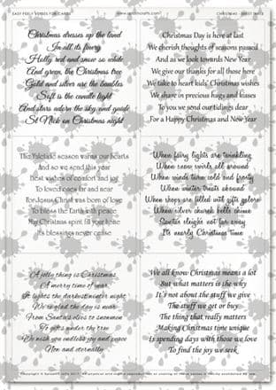 Easy Peely Transparent Verses Christmas Sheet 3
