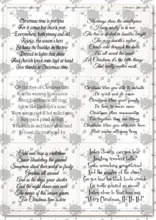 Easy Peely Transparent Verses Christmas Sheet 4