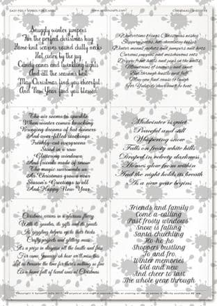 Easy Peely Transparent Verses Christmas Sheet 5
