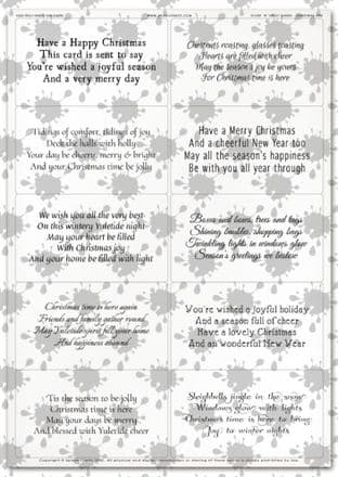 Easy Peely Transparent Verses Christmas Short N Sweet Sheet 1