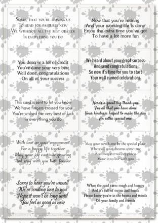 Easy Peely Transparent Verses Mothers & Fathers  Sheet