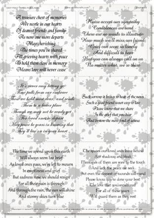 Easy Peely Transparent Verses Sympathy  Sheet