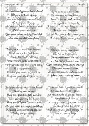 Easy Peely Transparent Verses Wedding Sheet