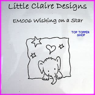 ELEPHANT STAMP - WISHING ON A STAR by LITTLE CLAIRE DESIGNS