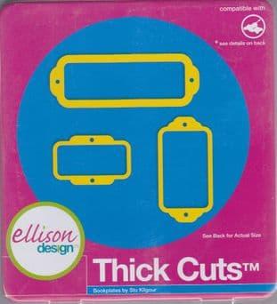 ELLISON THICK CUTS BOOKPLATES #1 CUTTING DIE