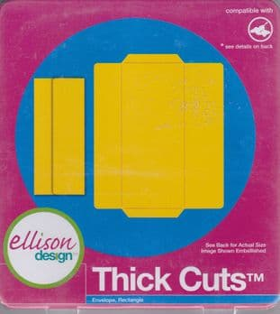 ELLISON THICK CUTS ENVELOPE RECTANGLE CUTTING DIE