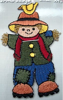 EMBROIDERED APPLIQUE MOTIF - SCARECROW