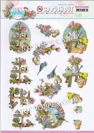 Enjoy Spring Decorations Die Cut Decoupage Sheet Amy Design Push Out SB10541
