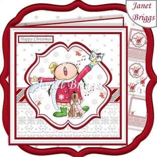 FA LA LA LA LA Christmas 7.5 Decoupage Card Kit digital download